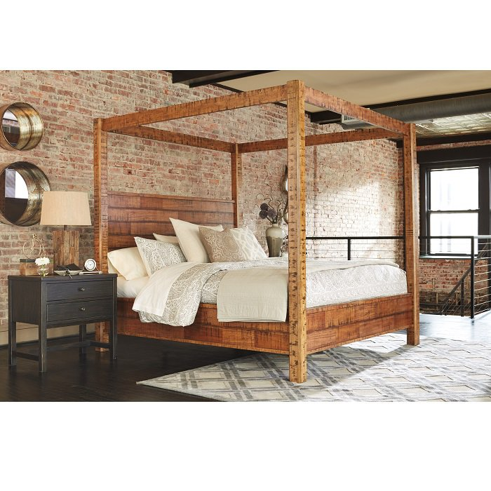 King size poster bed for sale